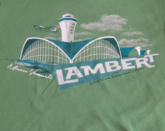 Womens Lambert Airport STL - T-shirt Leaf Green - Multiple Sizes Available