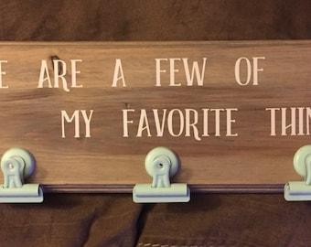 Favorite Things Sign