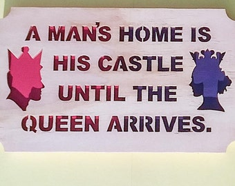 Funny Wall Hanging, Funny Art, Funny Home Decor, Funny Wall Art, Funny Wood Signs, Funny Gifts, Scroll Saw Art
