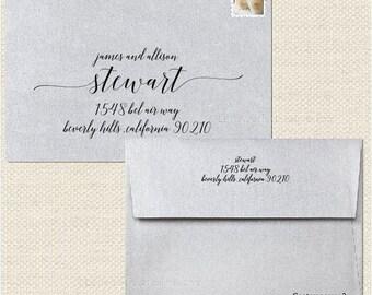 Wedding Digital Calligraphy Envelope Addressing Printing - Contemporary