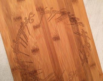 Lord of the Rings Bamboo Cutting Board- Medium
