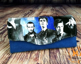 Dr Who Print Blue Necessary Clutch Wallet Purse NCW The Doctor Blue