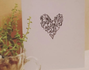 Mother's Day card-heart