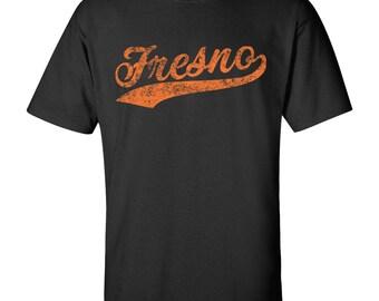Fresno City Script T-Shirt - Black