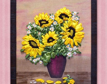 Painting SUNFLOWERS WITH DAISIES