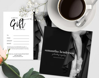 Gift Certificate Photoshop Template, Photography Gift Card Template, Photoshop Templates for Boudoir Photography, Elegant, BM606