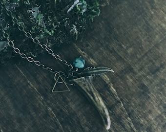 Antler tip Necklace | Antler Jewelry | Nature Jewelry | Mountain Jewelry