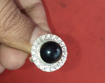 Black onyx ring,925 sterling silver ring, onyx silver ring