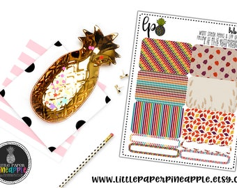 AUTUMN FALLING HALFBOX Planner Stickers // Repositionable Matte Stickers | HB34
