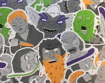 Horror Films Sticker Pack.