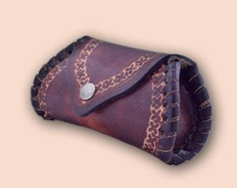 Leather braided wallet Ri