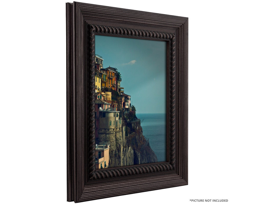 Craig Frames 4x6 Inch Rustic Dark Brown Picture Frame