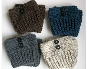 Boot Socks With Buttons  - Womens Boot Cuffs