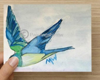 Swallow Note cards 5.5x4