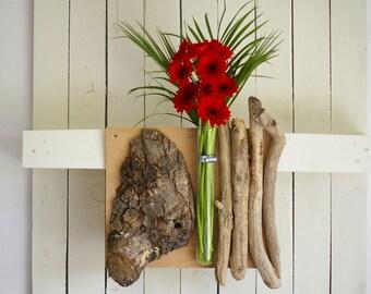 Flower vase decoration bark natural wall decoration vase tube