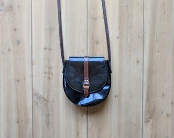 Vintage Crossbody Bag   Crossbody Purse   Crossbody Leather Bag   Patent Leather Purse   Patent Leather Handbags   Italian Leather Handbags