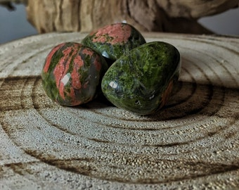 UNAKITE (Grade A Natural) Tumbled Polished Stones Gemstone Rocks for Healing, Yoga, Meditation, Reiki, Wicca, Crafts, Jewelry Supplies