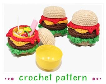Surprise de Burger - oeuf Ü Burger - au crochet motif