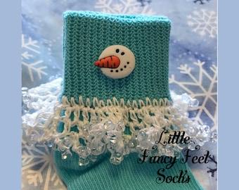 Snowman Socks - Winter Socks - Christmas Socks