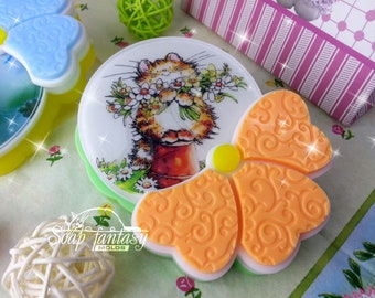 Flower (round) / La fleur silicone photo soap mold - for making soap with a picture (Maked from high quality silicone)