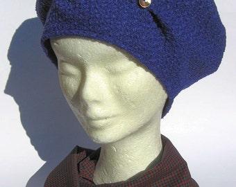 french  wool tam beret violet, women beret boho chic, wool beret women
