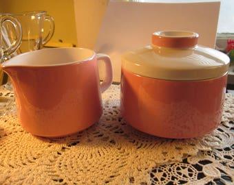 Vintage Pink Cream Sugar Micasa Mediterrania Japan