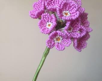 Pink primrose made of beads