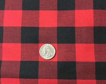 """Buffalo Plaid in red and black by Robert Kaufman 1"""""""