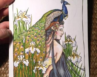 Iris Original Painting by Renae Taylor