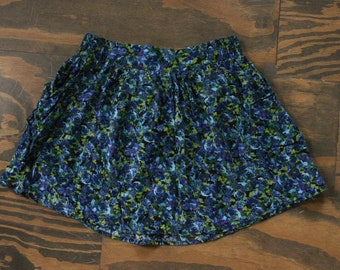 Floral Mini Skirt *WITH POCKETS+