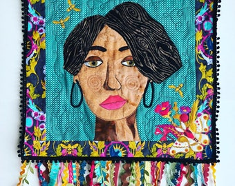 Custom portrait art quilt