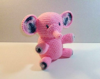 Plush Pink Elephant - Pretty Pink Pachyderm - Pink Stuffed Toy Elephant - Baby Shower Gift - Little Girl Gift - Ready-to-Ship