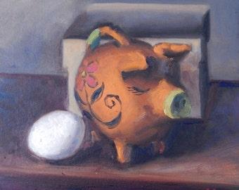 Piggy Bank and Egg