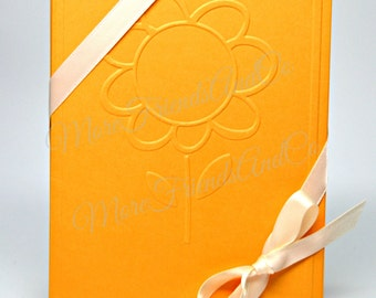 Sunflower Embossed Cards / Yellow Sunflower Note Cards / Set of 6 Flower Note Cards / Blank Note Cards