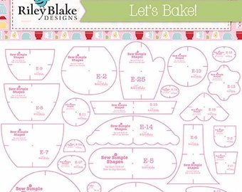 Lori Holt - Let's Bake Sew Simple Shapes - INCLUDES 25 TEMPLATES- STT-8451