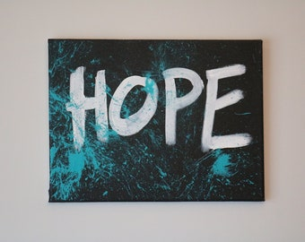 HOPE Splatter Paint Canvas 12x16