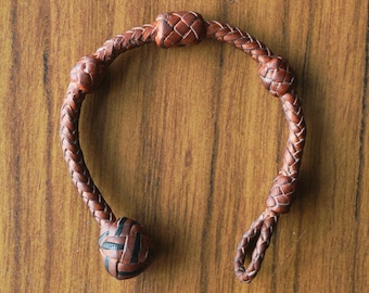 Kangaroo Leather 8 Strand Bracelet