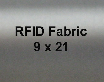 RFID Blocking Fabric, EMI Shielding  for Wallets Lining, Purse lining, Pocket Lining 9 by 21 inches