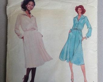 Vogue Vintage Sewing Pattern 1829, American Designer Original by Jerry Silverman, Misses Dresses Size 12