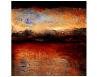 Red Skies at Night by Michelle Calkins Wall Decor Giclee Art Print Poster A4 A3 A2 Large Print FLAT RATE SHIPPING