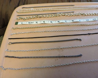"Various Chains ... Mystery lot ... Every chain is 8"" long or longer"