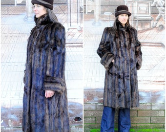 Vintage Fur Coat Medium Long Fur Coat Full Length Coat Brown Fur Coat Custom Fur Coat PNW Coat Luxury Coat 1940s Fur Coat