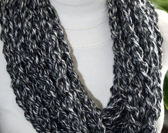 Crochet Pattern for a Chunky Chain Cowl Scarf Scarflett Women Instant Download PDF