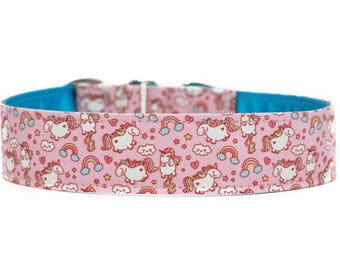 Unicorn Dog Collar / Custom Dog Collar / Martingale