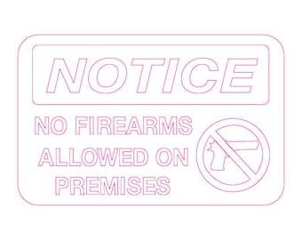 No Guns/Firearms (Sign)