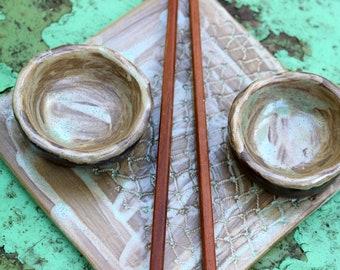 Wabi sabi ceramics, Sushi plate, Sushi serving tray, Pottery handmade, Sushi set, Wabi sabi pottery, Sushi gifts Wabi sabi dinnerware