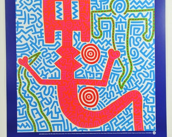 Keith Haring, Untiteled Blue (1984), Exhibition Graphic