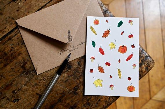 """Card """"as an air of autumn"""""""