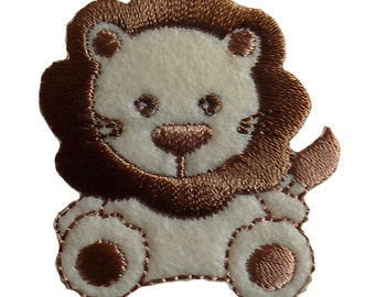 Especially Baby Lion Embroidered Iron On Applique