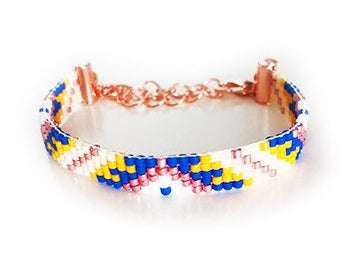 Miyuki custom made delica bracelet pick your color setting